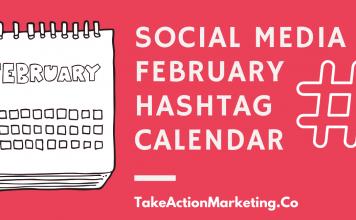Social Media February Hashtag Calendar