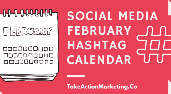 Social Media February Hashtag Calendar